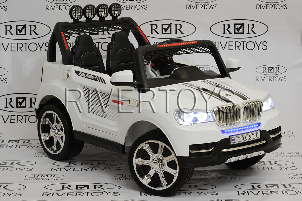 Электромобиль RiverToys BMW T005TT WHITE